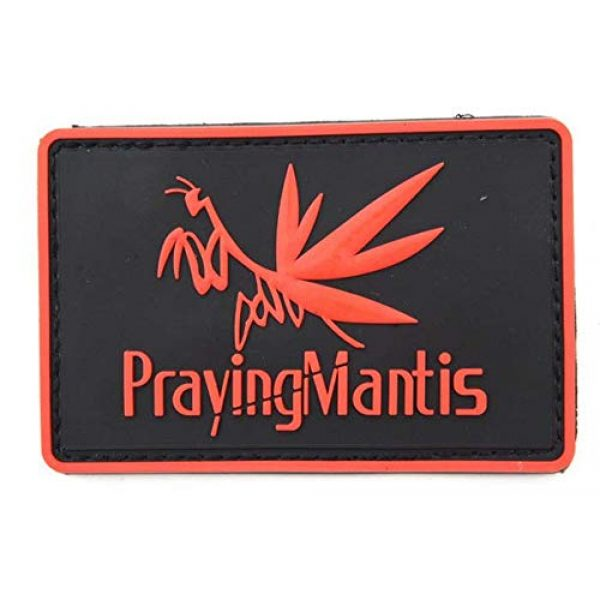 Tactical PVC Patch Airsoft Morale Patch 1 Metal Gear Solid Prayingmantis Morale Military Patch 3D PVC Rubber Tactical Rubber Hook Patch (red)