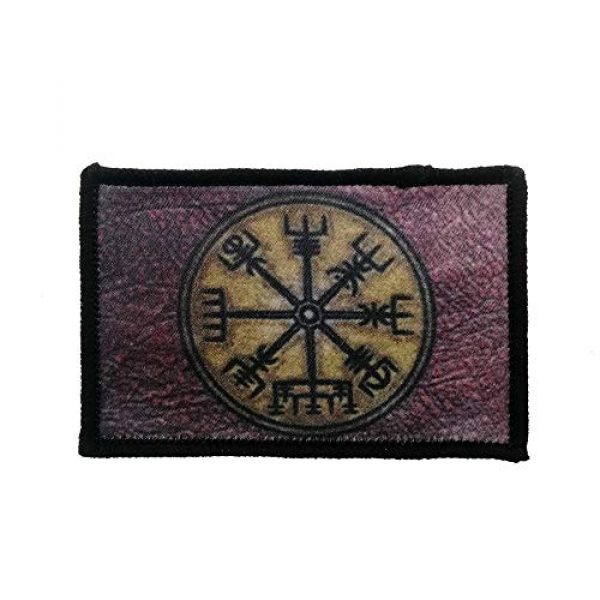 Cute-Patch Airsoft Morale Patch 1 Retro Vikings Compass Iron On Patch Norse Rune Badge Tactical Military Army Emblem