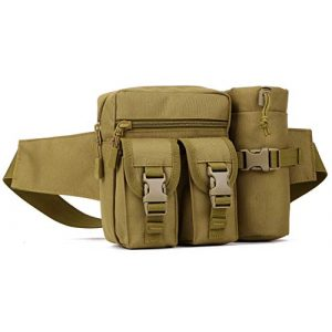 Protector Plus Tactical Pouch 1 Protector Plus Tactical Fanny Pack with Detachable Water Bottle Holder Pouch Military Running Waist Bag Sling Hip Belt MOLLE Army Lumbar Gear Pocket
