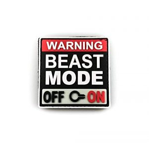 """Tactical Innovations Canada Airsoft Morale Patch 1 PVC Morale Patch - Beast Mode - Glow in Dark - 2""""x2"""""""