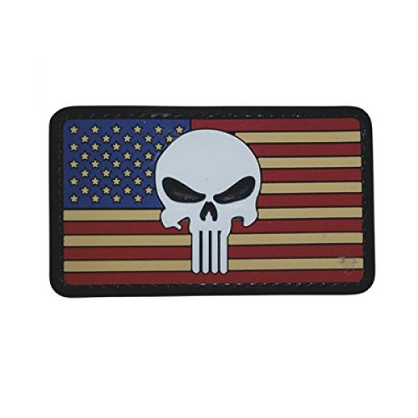 5ive Star Gear Airsoft Morale Patch 1 5ive Star Gear Vintage Flag Punisher Morale Patch, Multi-Color, One Size