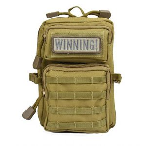 JFFCE Tactical Pouch 1 JFFCE Compact Tactical Waist Pack,Molle Pouch with Zipper,Pouch for Belt,Fanny Pack Pocket with Detachable Strap for Sports Travel Hiking Running Cycling Camping,Backpack Accessories