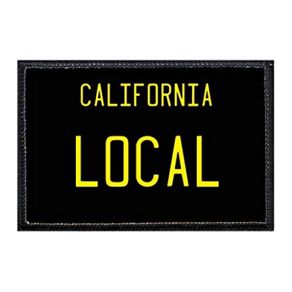 P PULLPATCH Airsoft Morale Patch 1 Local - California License Plate Morale Patch | Hook and Loop Attach for Hats, Jeans, Vest, Coat | 2x3 in | by Pull Patch
