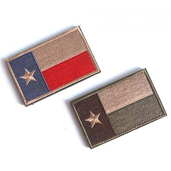 June Sports Airsoft Morale Patch 3 Texas State Flag Embroidered Patch Sew-On TX Lone Star Emblem ABG77