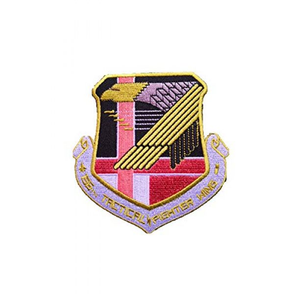 Generic Airsoft Morale Patch 1 Ace Combat 'Yellow Squadron' Military morale Patch Fabric Embroidered Badges Patch Tactical Stickers for Clothes with Hook & Loop