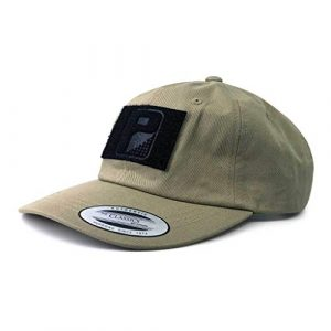 P PULLPATCH Tactical Hat 1 Pull Patch Tactical Hat | Authentic Classics Dad Cap with Buckle Closure | 2x3 in Hook and Loop Surface to Attach Morale Patches | 6 Panel | Khaki | Free US Flag Patch Included