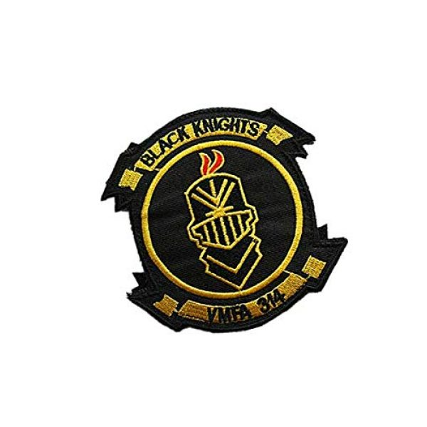 Embroidery Patch Airsoft Morale Patch 2 USMC VMFA 314 Black Knights Military Hook Loop Tactics Morale Embroidered Patch (color1)
