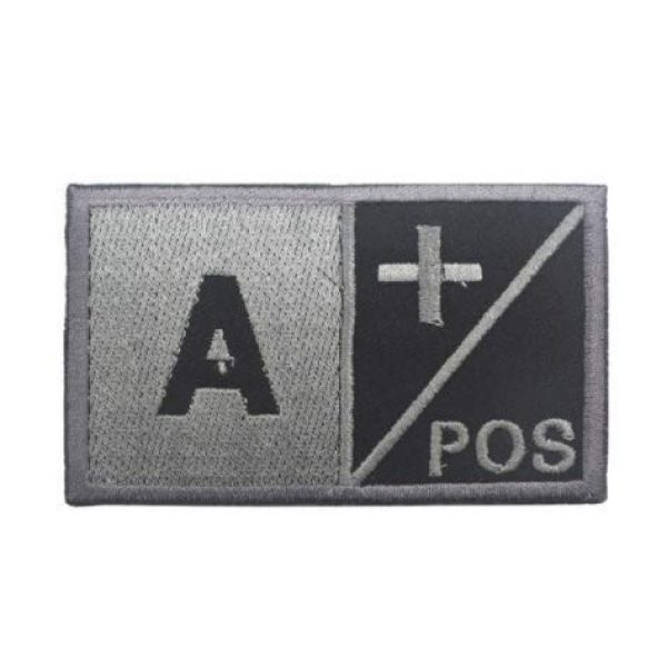Embroidered Patch Airsoft Morale Patch 1 A+ Positive POS/Negative NEG Blood Type Tactical Patch Military Embroidered Morale Tags Badge Embroidered Logo Patch DIY Applique Shoulder Patch Embroidery Gift Patch (A+)