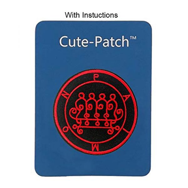 Cute-Patch Airsoft Morale Patch 3 Seal of Paimon Sigil Talisman Demon Circle Embroidered Iron On Sew On Patch