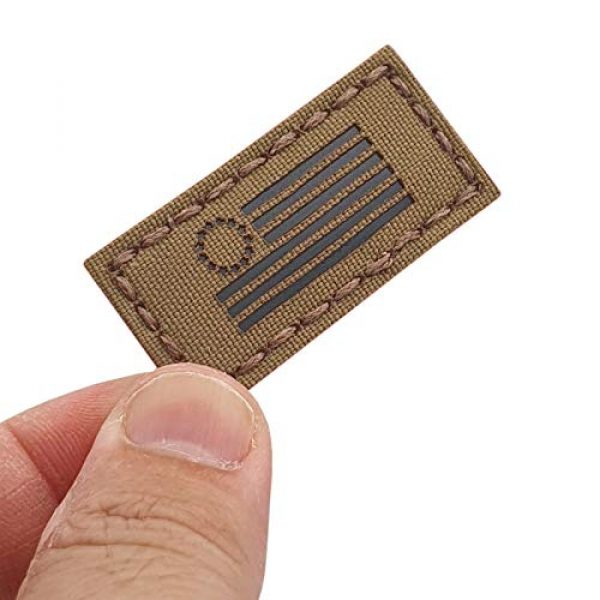 Tactical Freaky Airsoft Morale Patch 1 IR 1x2 Coyote Betsy Ross Flag American Independence Revolution 2A Tactical Morale Hook-and-Loop Patch