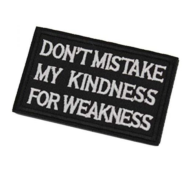 DATOUWEN ACCESSARY Airsoft Morale Patch 2 ZHDTW Tactical Morale Embroidered Patches with Hook and Loop Don't Mistake My Kindness for Weakness (DT-021)