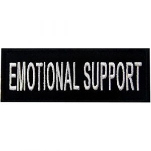 EmbTao Airsoft Morale Patch 1 Emotional Support Service Animal Vests/Harnesses Emblem Embroidered Fastener Hook & Loop Patch, 4 X 1.5 Inch