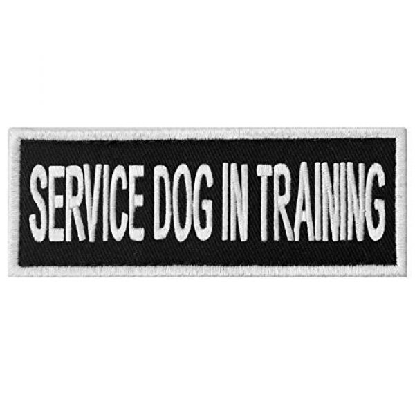 EmbTao Airsoft Morale Patch 1 Service Dog in Training Sign Vests/Harnesses Patch Embroidered Badge Fastener Hook & Loop Emblem, 6 X 2 Inches
