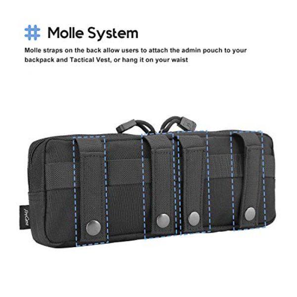 ProCase Tactical Pouch 3 ProCase Tactical Admin Pouch Versatile Molle Admin Pouch EDC Carry Bag Multi-Purpose Tool Holder Bundle with Compact EDC Military Admin Utility Gadget Waist Bag