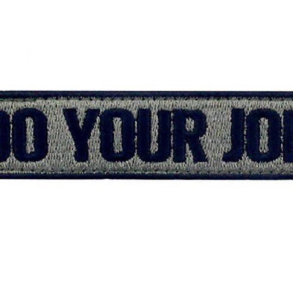 EmbTao Airsoft Morale Patch 2 Do Your Job Embroidered Patch Tactical Morale Applique Fastener Hook & Loop Emblem, Olive & Black