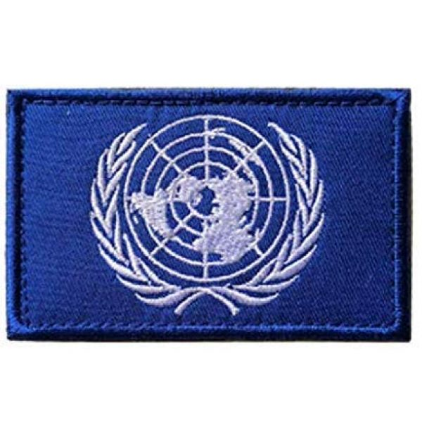 Tactical Embroidery Patch Airsoft Morale Patch 1 Un United Nations U.N. Flag Embroidery Patch Military Tactical Morale Patch Badges Emblem Applique Hook Patches for Clothes Backpack Accessories