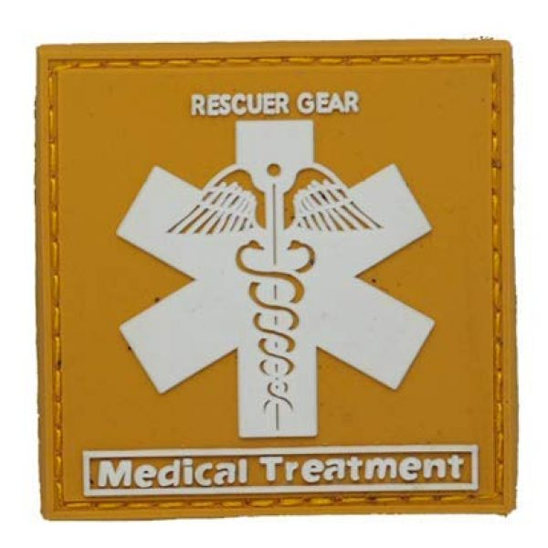 Tactical PVC Patch Airsoft Morale Patch 1 Medical Treatment PVC Military Tactical Morale Patch Badges Emblem Applique Hook Patches for Clothes Backpack Accessories