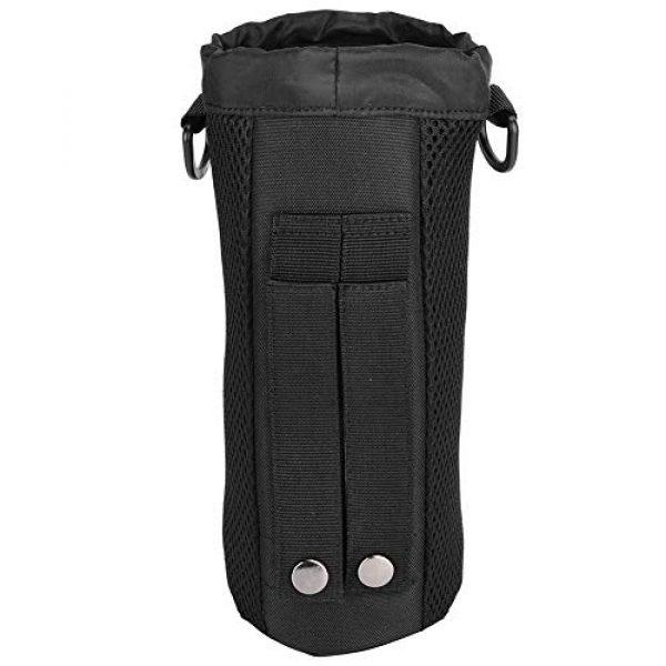 Alomejor Tactical Pouch 4 Alomejor Water Bottle Pouch Sport Water Bottle Kettle Bag with Adjustable Shoulder Strap for Camping Hiking Running