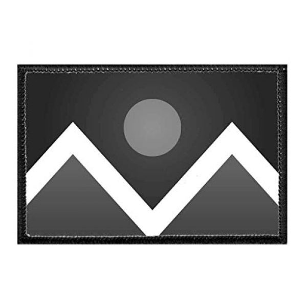 P PULLPATCH Airsoft Morale Patch 1 Denver City Flag - Black and White Morale Patch   Hook and Loop Attach for Hats, Jeans, Vest, Coat   2x3 in   by Pull Patch