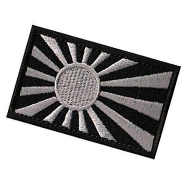 Embroidery Patch Airsoft Morale Patch 3 Rising Sun Flag Flag of Japan Japanese Flag Military Hook Loop Tactics Morale Embroidered Patch (color2)