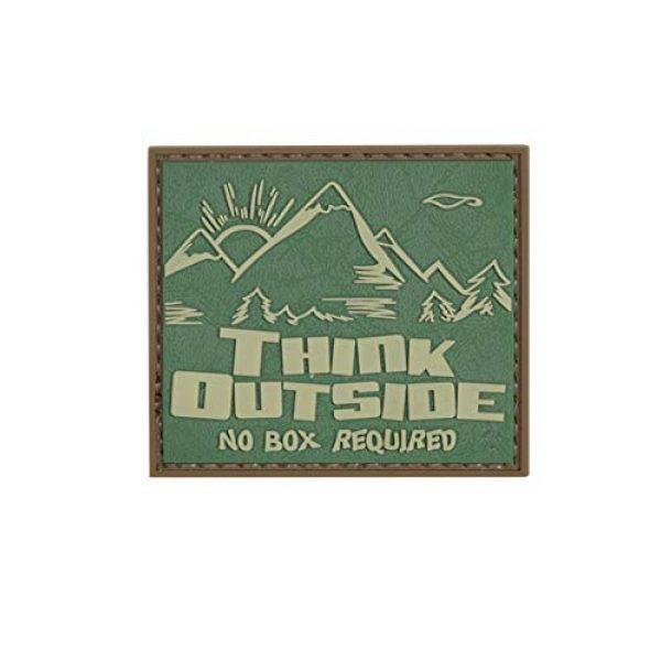 """5ive Star Gear Airsoft Morale Patch 1 5ive Star Gear """"Think Outside No Box Quote Morale Patch, One Size, Multi-Colored"""