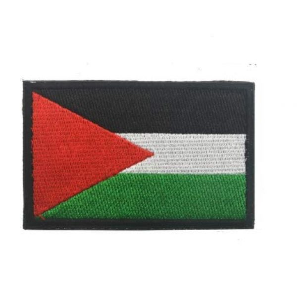 Tactical Embroidery Patch Airsoft Morale Patch 1 Palestinian Flag Embroidery Patch Military Tactical Morale Patch Badges Emblem Applique Hook Patches for Clothes Backpack Accessories