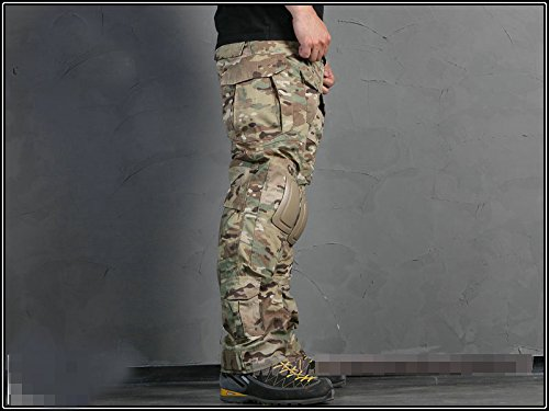 ATAIRSOFT Tactical Pant 5 ATAIRSOFT Tactical Military Emerson BDU Hunting Gen2 G2 Men Combat Pants with Knee Pads Multicam(S-30W)