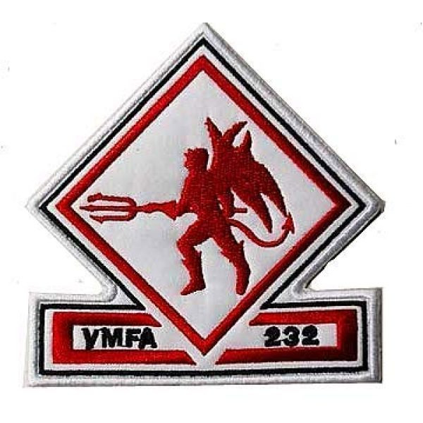 Embroidery Patch Airsoft Morale Patch 1 US VMFA-232 Red Devils Attack Squadron Military Hook Loop Tactics Morale Embroidered Patch