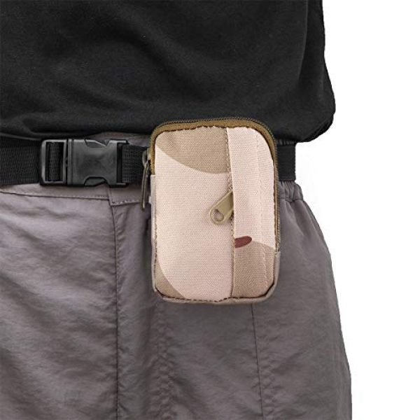 Alomejor Tactical Pouch 5 Alomejor Tactical Purse Wallet Nylon Waterproof Waist Bag Military Campaign Matching for Camping