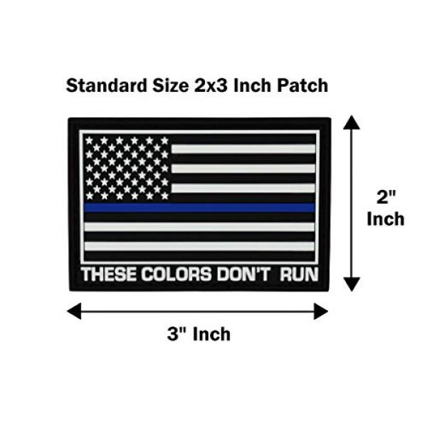 Great 1 Products Airsoft Morale Patch 5 Great 1 Products American Flag Patch Set, 2x3 inch, Flexible PVC Material, Hook and Loop, Military and Tactical Accessory for Clothing-Jackets-Hats-Backpacks (Thin Blue Line Set 2)