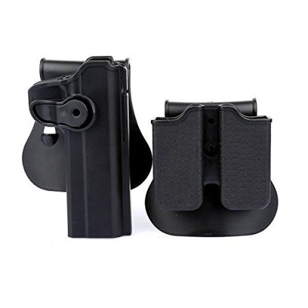 AUKMONT Tactical Pouch 1 AUKMONT Tactical Retention Roto Paddle Holster & Double Magazine Pouch for PT1911