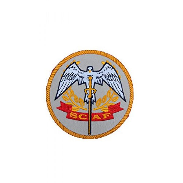 Generic Airsoft Morale Patch 1 Dead Space Sovereign Colonies Armed Forces SCAF Embroidered Morale Patch with hook and loop
