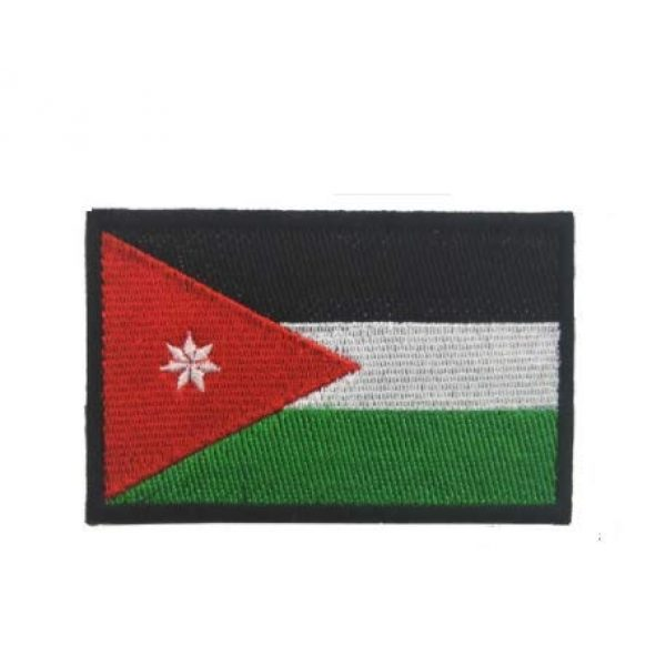Tactical Embroidery Patch Airsoft Morale Patch 1 Jordanian Flag Embroidery Patch Military Tactical Morale Patch Badges Emblem Applique Hook Patches for Clothes Backpack Accessories