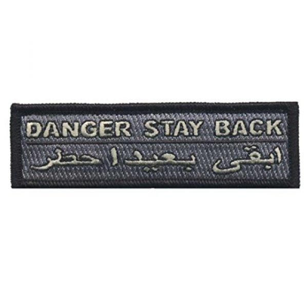 F-Bomb Morale Gear Airsoft Morale Patch 1 Danger Stay Back - Tactical Hat Morale Patch