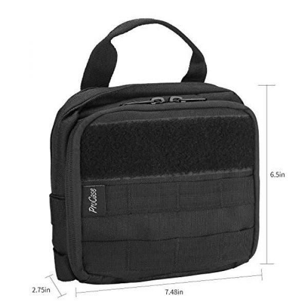 ProCase Tactical Pouch 7 ProCase Tactical Admin Pouch Versatile Molle Admin Pouch EDC Carry Bag Multi-Purpose Tool Holder Bundle with Compact EDC Military Admin Utility Gadget Waist Bag