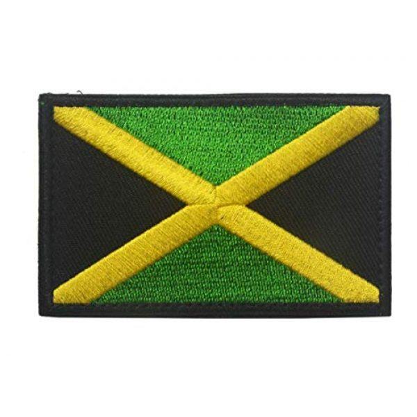 Tactical Embroidery Patch Airsoft Morale Patch 2 2pcs Jamaica Flag Embroidery Patch Military Tactical Morale Patch Badges Emblem Applique Hook Patches for Clothes Backpack Accessories
