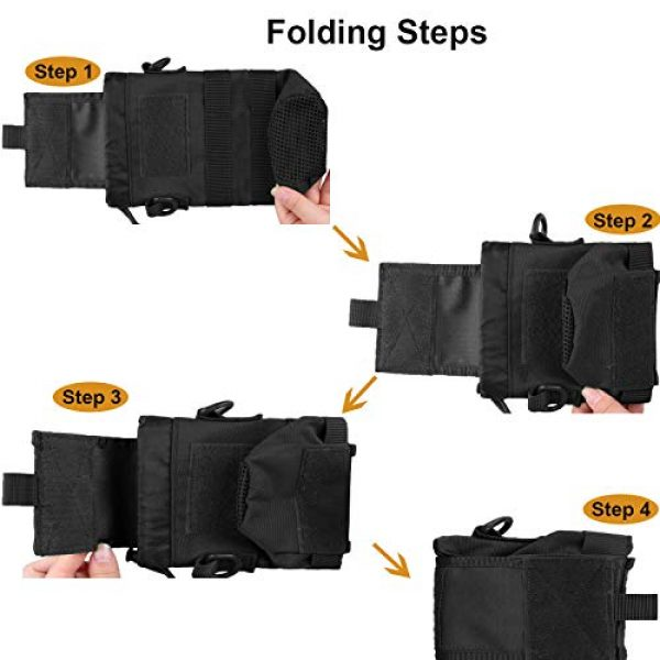 AMYIPO Tactical Pouch 5 AMYIPO Folding Water Bottle Pouch Molle Tactical Holder Storage Bag for 32oz Carrier