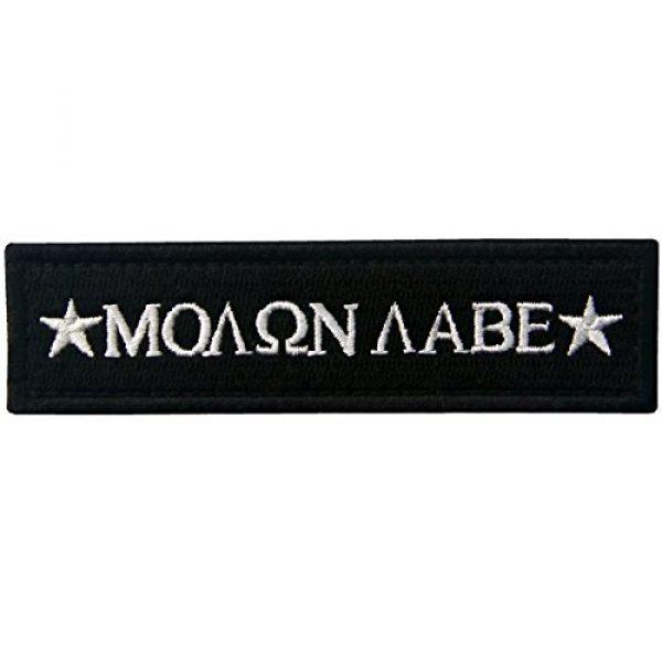 EmbTao Airsoft Morale Patch 1 Tactical Molon Labe Spartan Morale Fastener Hook & Loop Patch - Black
