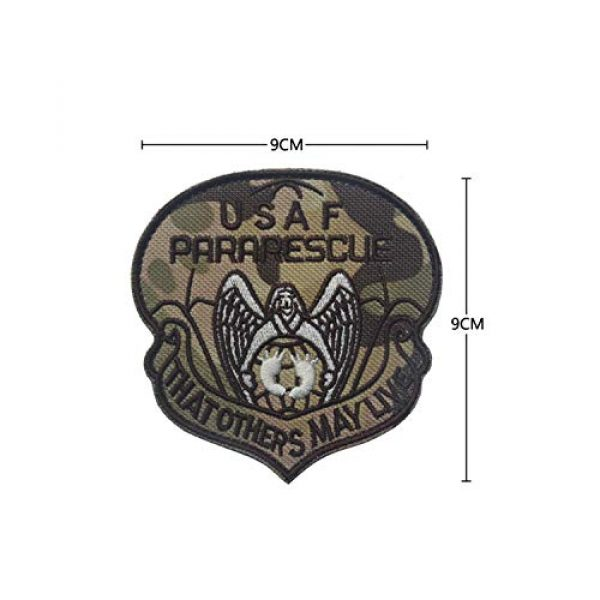 DPAINTouscap Airsoft Morale Patch 2 USAF Airborne Paratrooper Pararescue Tactical Patches Embroidered Military Patch Morale Patches