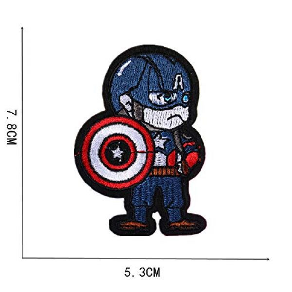 GODNICE Airsoft Morale Patch 2 Captain America lron on Patches, Morale Patches for Clothing Jeans Jackets Backpack Repair, Aesthetic Super Hero Iron on Decals Embroidery Cloth (Captain America1)