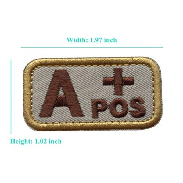 Unknown Airsoft Morale Patch 3 Patches 3D Embroidery Badge Tactics/B/O/AB + Blood Type Morality, Military Badge, Tactical Coat, Sewing Fabric - (Color: E)