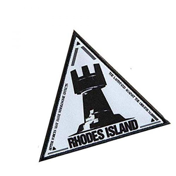 Fine Print Patch Airsoft Morale Patch 2 Arknights Rhodes Island Military Hook Loop Tactics Morale Printed Patch