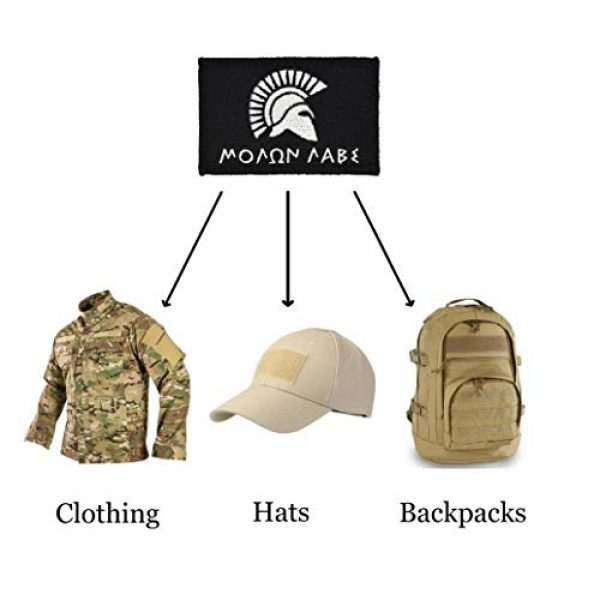Great 1 Products Airsoft Morale Patch 3 Tactical-Black Flag Patch 4-Pack Set, 2x3 inch, Embroidered, Hook and Loop, Military and Tactical Accessory for Clothing-Jackets-Hats-Backpacks (Set 1)