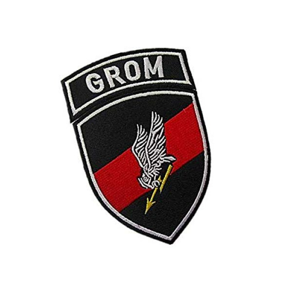 Embroidery Patch Airsoft Morale Patch 2 2 Pieces Polish Special Forces GROM TF-49 Military Hook Loop Tactics Morale Embroidered Patch