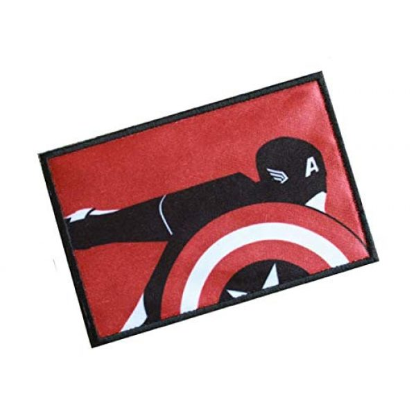 Fine Print Patch Airsoft Morale Patch 2 Captain America The Avengers Marvel Comics Military Hook Loop Tactics Morale Patch