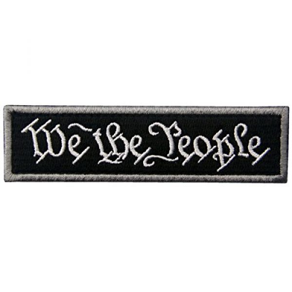 EmbTao Airsoft Morale Patch 1 We The People Tactical Embroidered Morale Applique Fastener Hook&Loop Patch - Black
