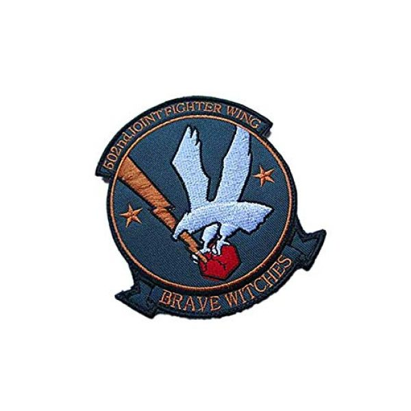 Embroidery Patch Airsoft Morale Patch 2 502nd Joint Fighter Wing Brave Witches Military Hook Loop Tactics Morale Embroidered Patch