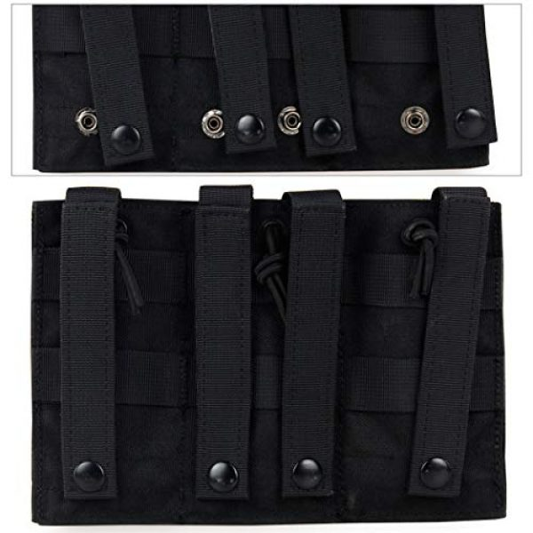 Aoutacc Tactical Pouch 4 Aoutacc Tactical Magazine Pouch Holder MOLLE Triple Open-Top Mag Pouch with D-Ring Grimlock Locking for M4 M16 AR-15 Magazines