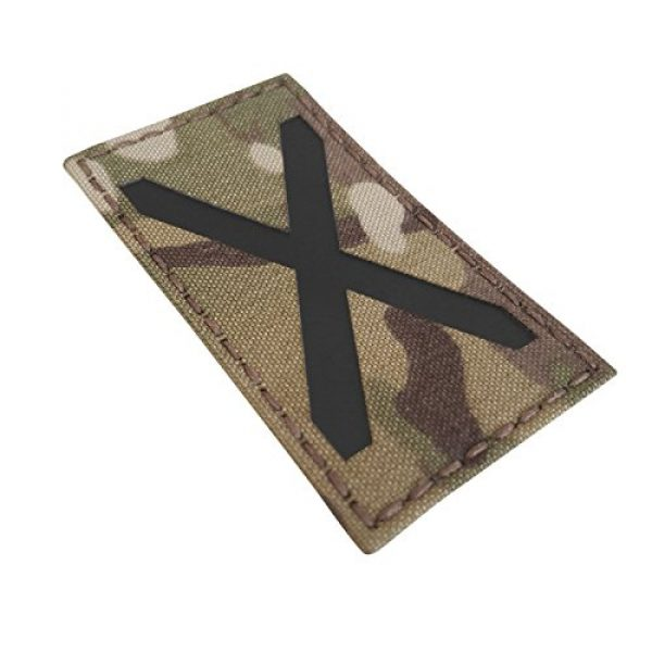 Tactical Freaky Airsoft Morale Patch 1 Multicam Infrared IR Alabama Flag Scotland 3.5x2 IFF Tactical Morale Fastener Patch