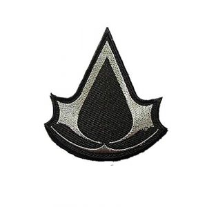 Embroidery Patch Airsoft Morale Patch 1 Assassin's Creed Military Hook Loop Tactics Morale Embroidered Patch